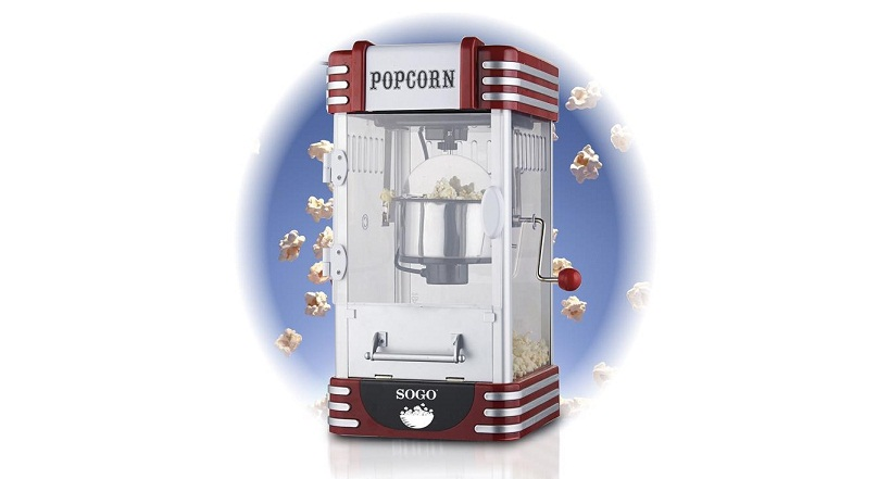 Sogo συσκευή PopCorn XXL Πόπ Κόρν 310W Retro Old Fashioned, Pop Corn Maker, PAL- ηλεκτρικές οικιακές συσκευές   παρασκευαστές ποπ κορν