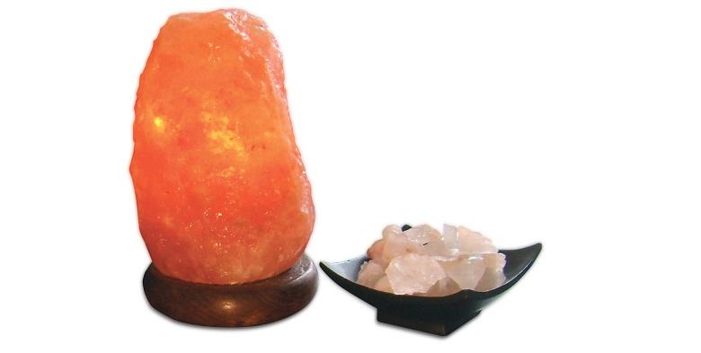 Q-MAX Jocca Φωτιστικό Πέτρα Ιμαλαΐων από αλάτι 10.2x17.1 cm, 2254Q - Q-MAX