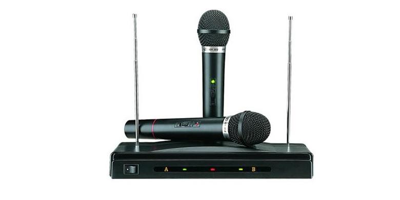 Συσκευή με Δύο Ασύρματα Μικρόφωνα για Karaoke Καραόκε, AT-306 - OEM εκδηλώσεις και γιορτές   καραόκε