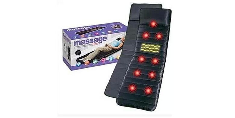 Θερμαινόμενο Στρώμα Μασάζ με 9 Σημεία Δόνησης - Massager Massage Mat Bed With So υγεία  και  ομορφιά   μασάζ