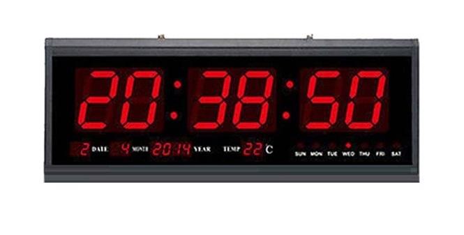 Μεγάλο Ψηφιακό Ρολόι Τοίχου - Πινακίδα LED με Θερμόμετρο και Ημερολόγιο Jumbo Clock TL4819! - Jumbo Clock