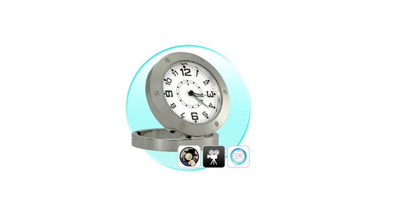 Επιτραπέζιο Ρολόι με Κρυφή Κάμερα και Ανιχνευτή ήχου - Spy Camera! - Spy Camera αυτοματισμοί και ασφάλεια   κάμερες