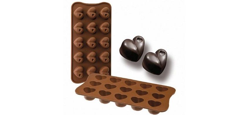 Φόρμα Σιλικόνης για Σοκολατάκια με 15 Θήκες σε Σχήμα Καρδιάς! - OEM μικροσυσκευές   βάφλες  κρέπες  μπισκότα  κέικ