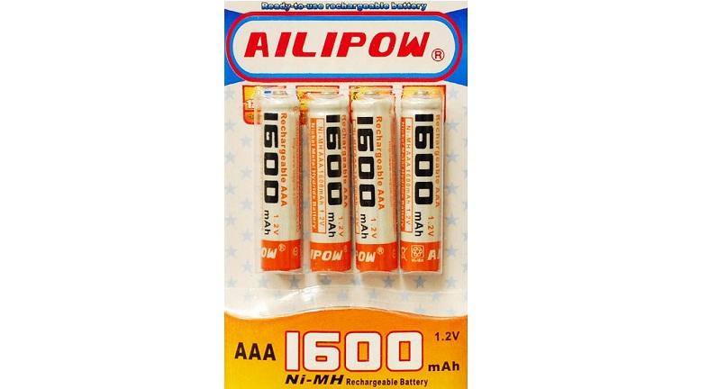 Επαναφορτιζόμενες μπαταρίες NiMH/ΑΑΑ/1,2V/1600mAh - Συσκευασία 4τμχ! - AILIPOW μπαταρίες   επαναφορτιζόμενες μπαταρίες