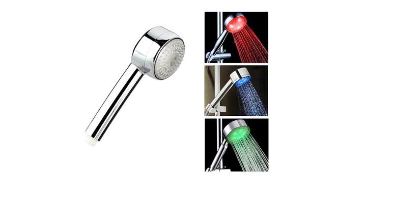 Τηλέφωνο Ντουζ με Φωτισμό LED με στρογγυλή κεφαλή - Cb μπάνιο   μπαταρίες τηλέφωνα μπάνιου