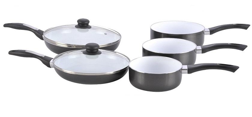 Μαγειρικά Σκεύη Σετ 7 τμχ με Κεραμική Επίστρωση PRADEL-489! - Pradel Premium μαγειρικά σκεύη   σετ μαγειρικών σκευών