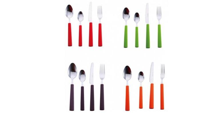Σετ Μαχαιροπίρουνα 24 τεμαχίων της Renberg RB-4515 Χρώμα Κόκκινο - Renberg σερβίρισμα   μαχαιροπίρουνα