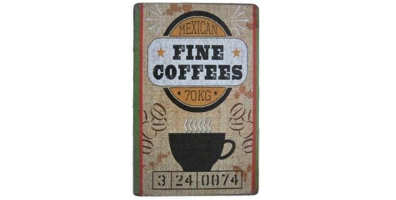 Διακοσμητική Μεταλλική Πινακίδα (20Χ30cm) Fine Coffees! - OEM διακόσμηση και φωτισμός   διακοσμητικά τοίχου