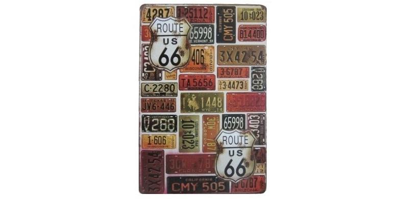 Διακοσμητική Μεταλλική Πινακίδα (20Χ30cm) Πινακίδες Route 66! - OEM διακόσμηση και φωτισμός   διακοσμητικά τοίχου