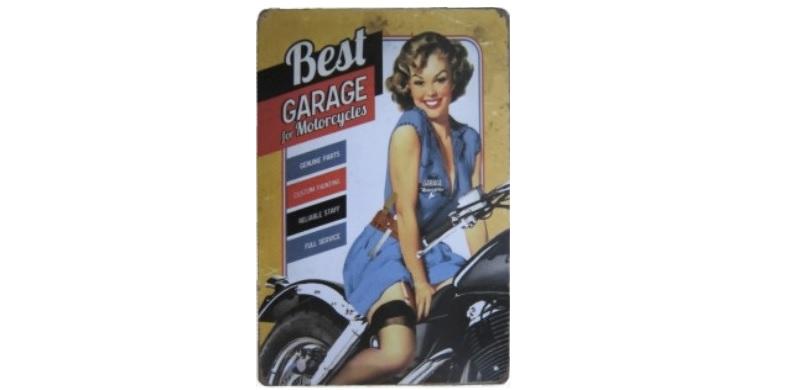Διακοσμητική Μεταλλική Πινακίδα (20Χ30cm) Best Garage! - OEM διακόσμηση και φωτισμός   διακοσμητικά τοίχου