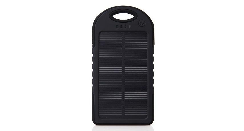 Ηλιακός Φορτιστής Επιβίωσης 5000mah- Solar Power Bank ES500! Μαύρο-Κίτρινο - OEM τηλεπικοινωνίες   φορητοί φορτιστές   power banks