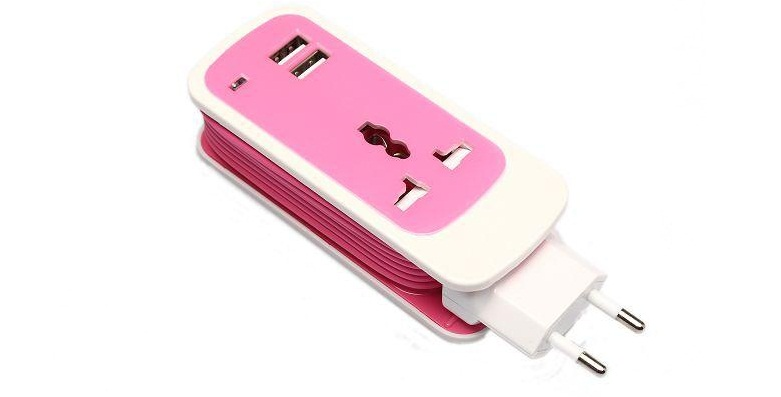 Φορτιστής 3-in-1 Dual USB Universal Socket για Smartphones/Tablets/Laptops! ΜΑΥΡ τηλεπικοινωνίες   αξεσουάρ κινητών