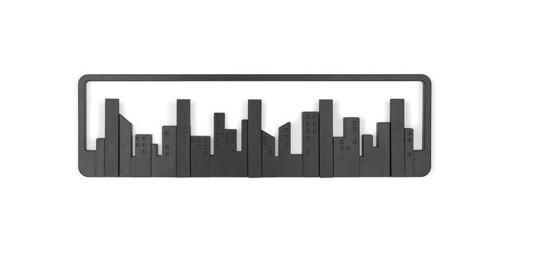 Κρεμάστρα Τοίχου 5 Θέσεων - Wall Shelf Hook City! - OEM έπιπλα   καλόγεροι και κρεμάστρες