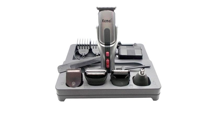Σετ Κουρευτικής και Ξυριστικής Μηχανής για Μαλλιά και Γένια 8 σε 1 Kemei KM-680A υγεία  και  ομορφιά   αποτριχωτικές   κουρευτικές