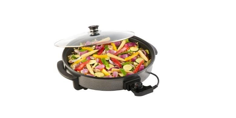 Πολυμάγειρας Τεπανιάκι με κεραμική αντικολλητική επίστρωση Oscar 1500watt EPP-40 κουζίνα   συσκευές υγιεινής μαγειρικής