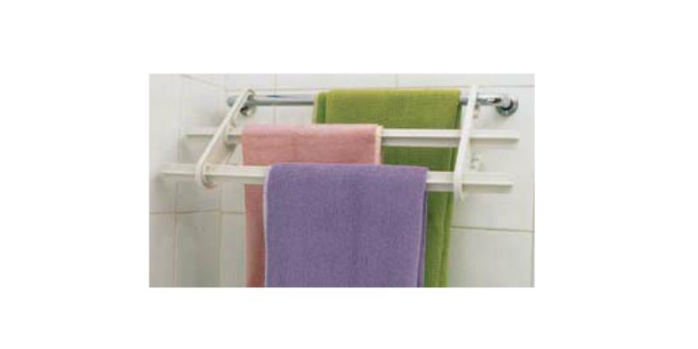 Jocca 4495 Πτυσσόμενη Κρεμάστρα μπάνιου για πετσέτες τριών επιπέδων - JOCCA home μπάνιο   κουρτίνες  χαλάκια και ράγες πετσετών