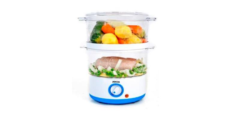 Jocca Ατμομάγειρας 400W για υγιεινή διατροφή - Food Steamer, 5555 - JOCCA home & για την κουζίνα   συσκευές υγιεινής μαγειρικής