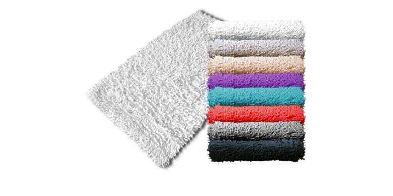Βαμβακερό Χαλάκι Μπάνιου Shaggy 50x80cm Λευκό - Schafer για το μπάνιο   χαλάκια