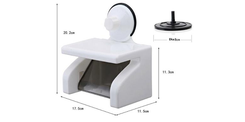 Βάση Χαρτιού Υγείας με Ράφη από την HOME RESIDE Shelf Tissue Holder SQ-18000 - H σπίτι   για το μπάνιο