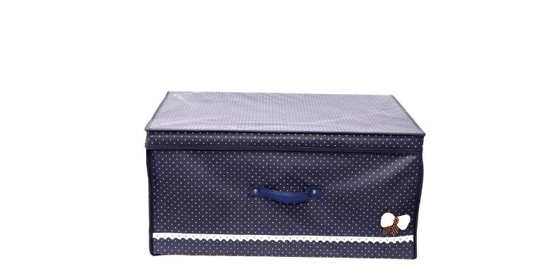 OEM Κουτί Aποθήκευσης Πουά Μπλέ 60 - OEM οργάνωση σπιτιού   κουτιά αποθήκευσης
