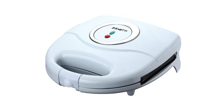 Zanetti Τοστιέρα 750W σε Λευκό χρώμα - Zanetti μικροσυσκευές   τοστιέρες σαντουιτσιέρες