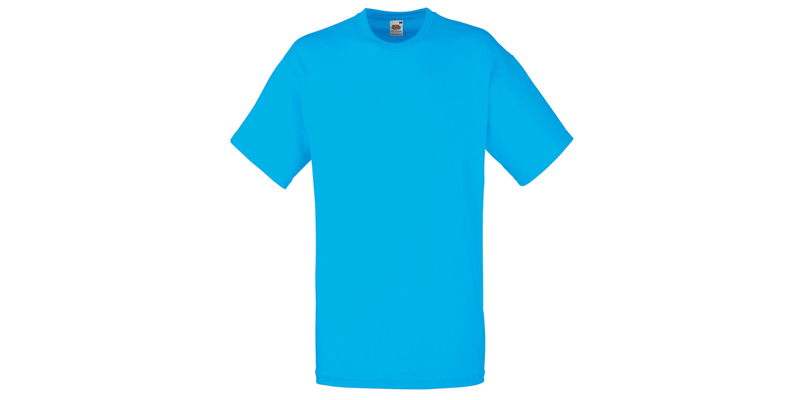 Ανδρικό T-Shirt, Valueweight Τ, Azure Blue No ZU, Fruit of the Loom 10000003