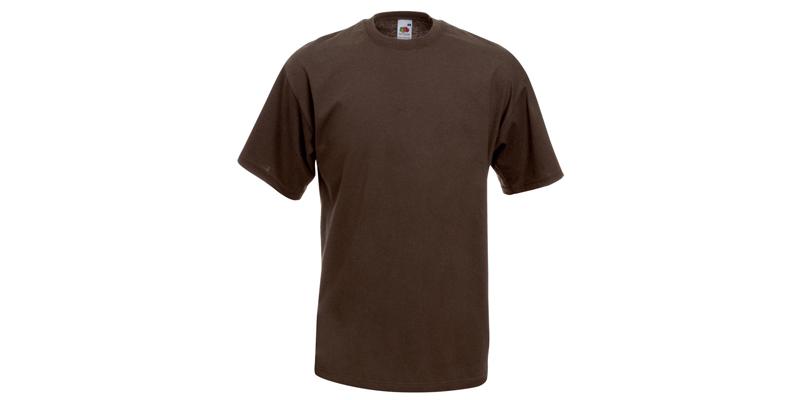 Ανδρικό T-Shirt, Valueweight Τ, Chocolate No CQ, Fruit of the Loom 10000003