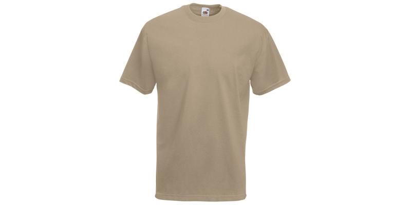 Ανδρικό T-Shirt, Valueweight Τ, Khaki No 3M, Fruit of the Loom 10000003