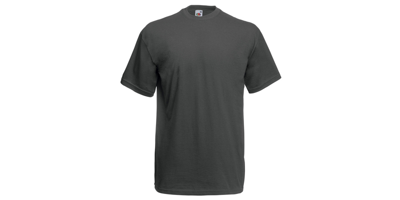 Fruit of the Loom Ανδρικό T-Shirt, Valueweight Τ, Light Graphite No GL