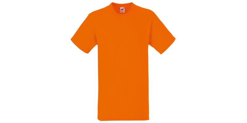 Ανδρικό T-Shirt, Valueweight Τ, Orange No 44, Fruit of the Loom 10000003
