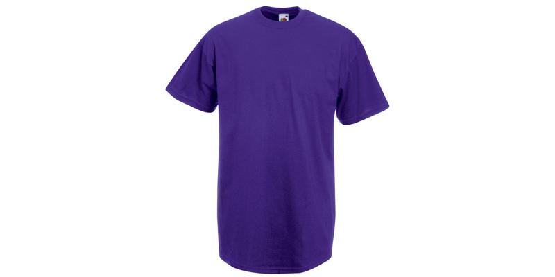 Ανδρικό T-Shirt, Valueweight Τ, Purple No PE, Fruit of the Loom 10000003