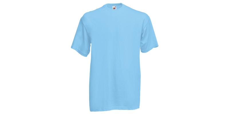 Ανδρικό T-Shirt, Valueweight Τ, Sky Blue No YT, Fruit of the Loom 10000003