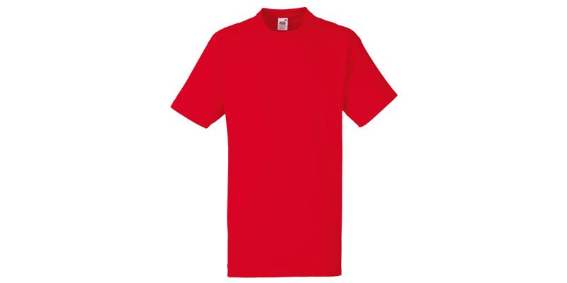Ανδρικό T-Shirt, Valueweight Τ, Red No 40, Fruit of the Loom 10000003