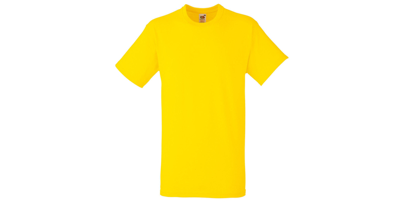 Ανδρικό T-Shirt, Valueweight Τ, Yellow No K2, Fruit of the Loom 10000003