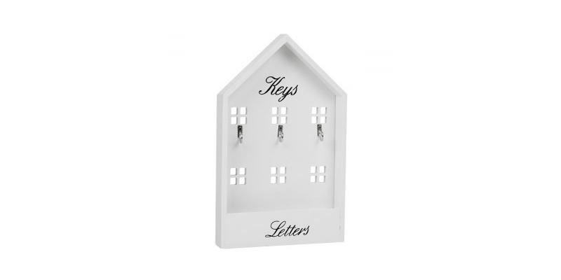 Κλειδοθήκη ξύλινη Σπίτι, 3 θέσεων με χώρο για αλληλογραφία, AC 01736 - Arti Casa οργάνωση σπιτιού   κλειδοθήκες