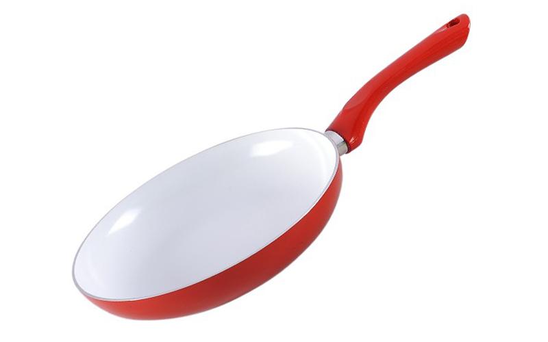 Τηγάνι 24 εκ., κεραμική επίστρωση, κόκκινο, Muhler MR-724C - Muhler μαγειρικά σκεύη   τηγάνια