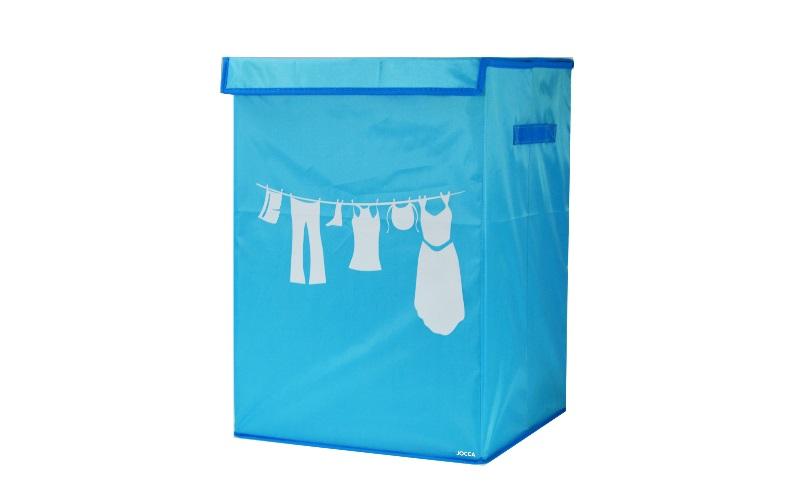Πτυσσόμενο Καλάθι απλύτων 35x35x50cm σε Γαλάζιο χρώμα, Jocca 2125A - JOCCA home  μπάνιο   καλάθια μπάνιου
