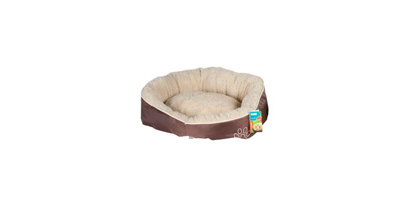 Μαλακό κρεβάτι σκύλου LUX, Μπεζ/Καφέ, 52x50x18cm, Pet Comfort 54913Μ Χρώμα Μπεζ  κατοικίδια   κρεβάτια και στρώματα