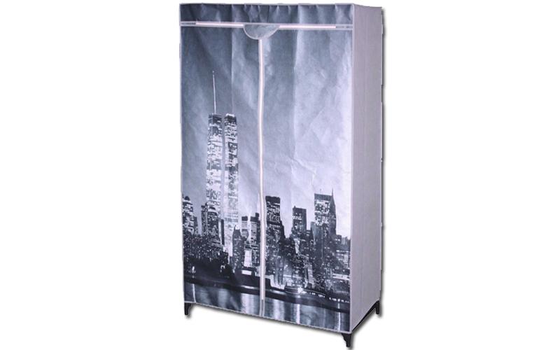 Ντουλάπα υφασμάτινη, New York, 87x46x156cm - Schafer οργάνωση σπιτιού   ντουλάπες