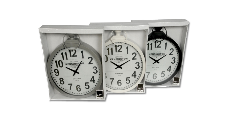 Arti Casa 97933 Αναλογικό ρολόι τοίχου σε σχήμα ρολογιού τσέπης Χρώμα Λευκό - Ar διακόσμηση   ρολόγια τοίχου