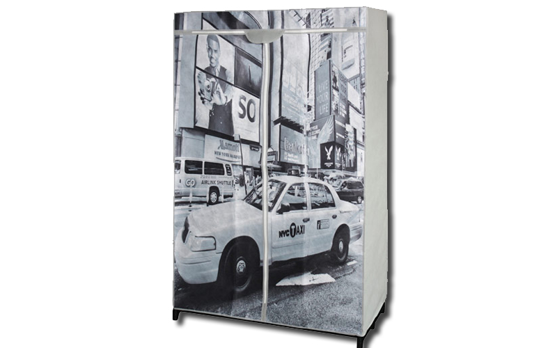 Jocca Ντουλάπα υφασμάτινη, 87x46x156cm με Θέμα New York, OR059N - JOCCA home & l έπιπλα   ντουλάπες και αξεσουάρ