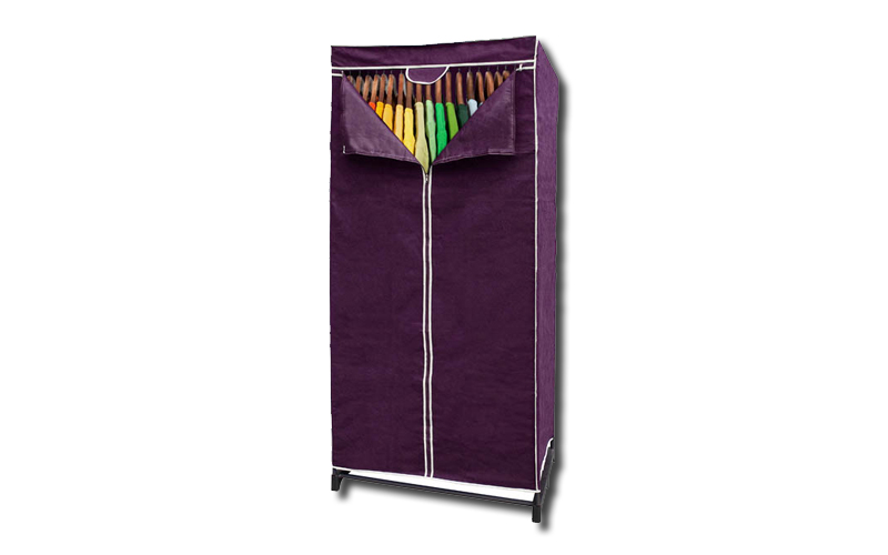 Jocca Υφασμάτινη Διπλή Ντουλάπα σε Μωβ χρώμα με φερμουάρ 87x45x150cm, OR067L - J έπιπλα   ντουλάπες και αξεσουάρ