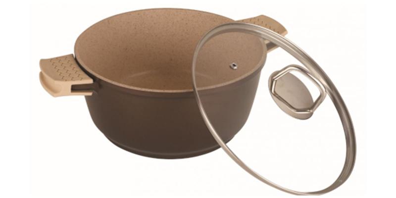 Blaumann BL-1120B Κατσαρόλα με κεραμική επίστρωση, 28cm, Beige Saphire Line - Bl σκεύη μαγειρικής   κατσαρόλες