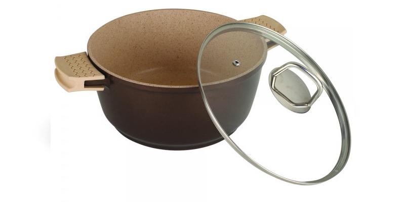 Κατσαρόλα με κεραμική επίστρωση, 30cm, Beige Saphire Line, Blaumann BL-3070B - B σκεύη μαγειρικής   κατσαρόλες