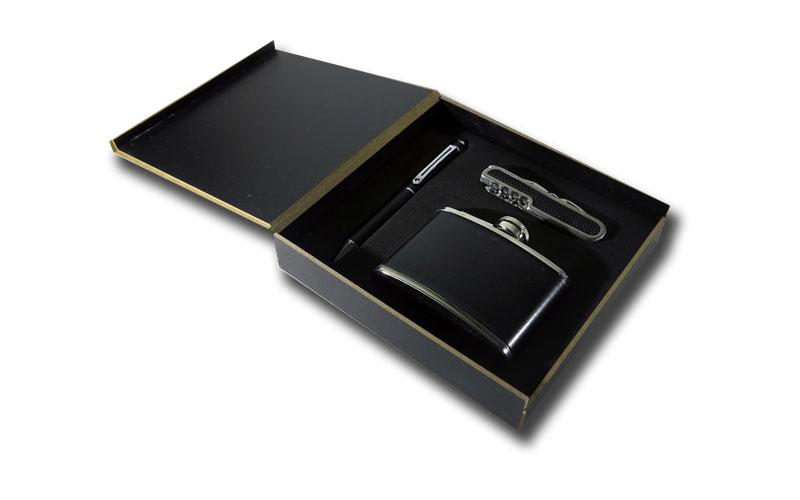 Κασετίνα Δώρου (Στυλό - Σουγιάς - Φλασκί) - Σετ 3 τεμαχίων! Χρώμα Μαύρο - OEM μόδα και αξεσουάρ   αξεσούαρ