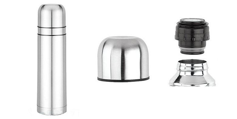Ανοξείδωτος Θερμός Κενού Αέρα με Στόμιο Ασφαλείας για Καφέ & Ροφήματα 0.75L - CH κουζίνα   θερμός και παγούρια