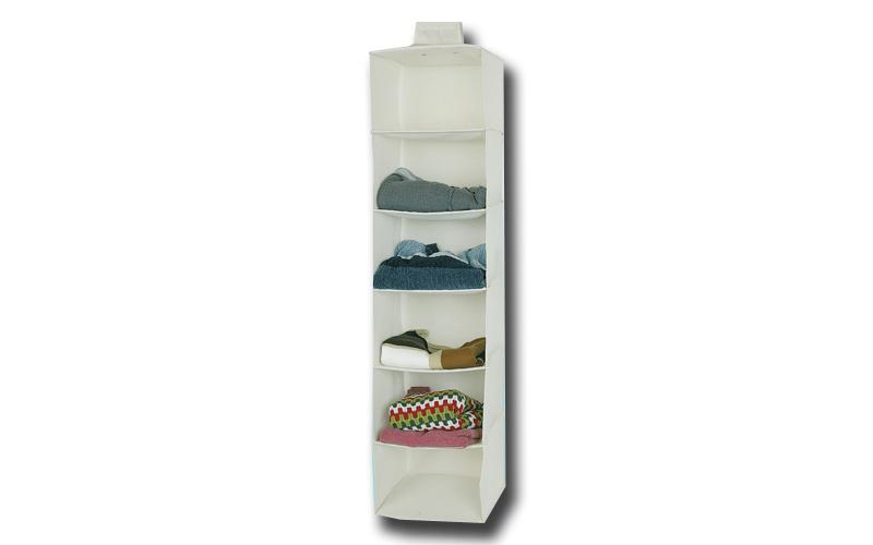 Jocca Διοργανωτής ντουλάπας με 6 ράφια σε λευκό χρώμα, OR074Ν - JOCCA home & lif οργάνωση σπιτιού   κουτιά αποθήκευσης