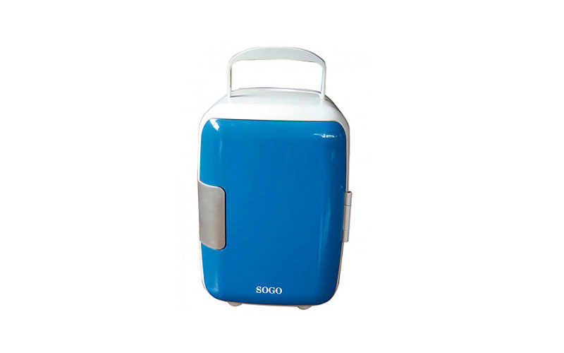 Mini Φορητό Ψυγείο 4L Μπλέ με Επιλογή για Ζεστή ή Κρύο SOGO SS-464Β - SOGO μικροσυσκευές   ψυγεία συντηρητές κρασιών