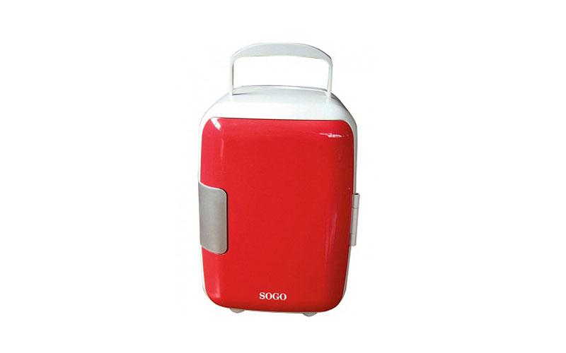 Mini Φορητό Ψυγείο 4L Κόκκινο με Επιλογή για Ζεστή ή Κρύο SOGO SS-464R - SOGO μικροσυσκευές   ψυγεία συντηρητές κρασιών