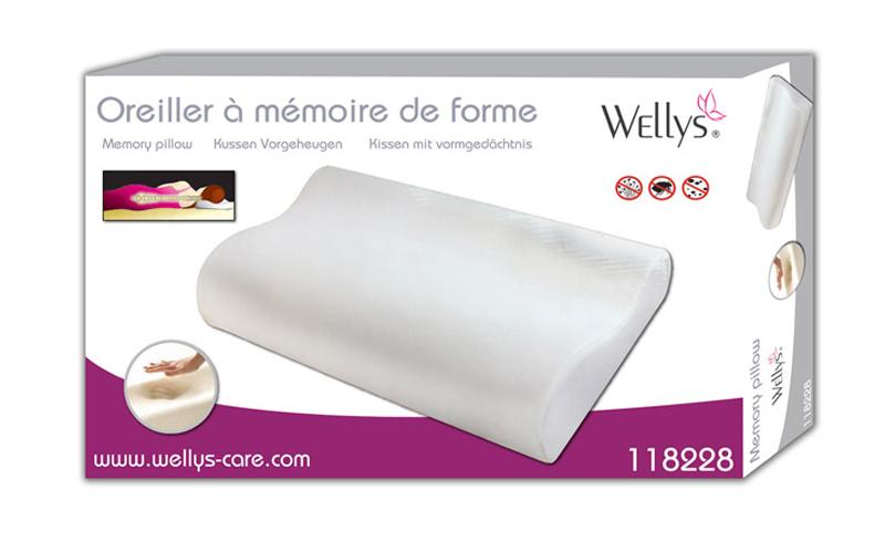 Wellys Ανατομικό Μαξιλάρι απο Memory Foam για ήρεμο και ξεκούραστο ύπνο, 118228 - Wellys